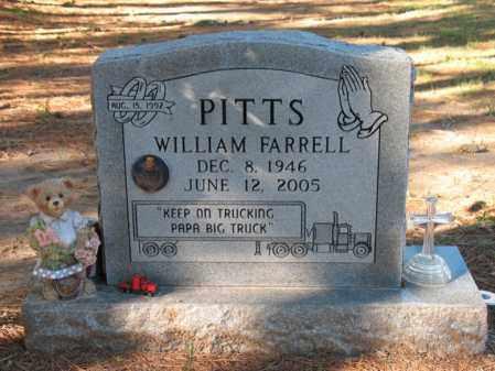 PITTS, WILLIAM FARRELL - Cross County, Arkansas | WILLIAM FARRELL PITTS - Arkansas Gravestone Photos