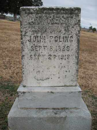 POLING, JOHN - Cross County, Arkansas   JOHN POLING - Arkansas Gravestone Photos