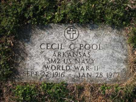 POOL (VETERAN WWII), CECIL C - Cross County, Arkansas   CECIL C POOL (VETERAN WWII) - Arkansas Gravestone Photos