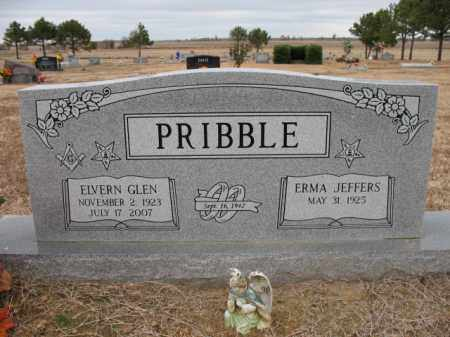 PRIBBLE, ELVERN GLEN - Cross County, Arkansas | ELVERN GLEN PRIBBLE - Arkansas Gravestone Photos