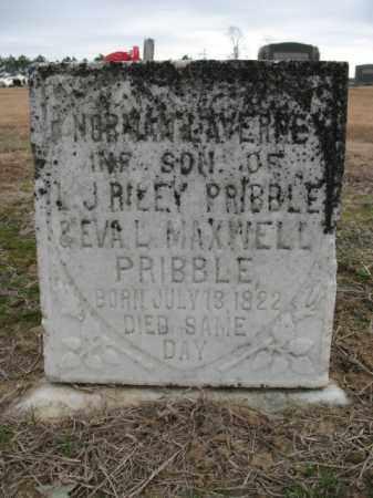 PRIBBLE, NORMAN LAVERNE - Cross County, Arkansas | NORMAN LAVERNE PRIBBLE - Arkansas Gravestone Photos