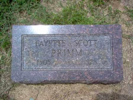 PRIMM, FAYETTE SCOTT - Cross County, Arkansas | FAYETTE SCOTT PRIMM - Arkansas Gravestone Photos