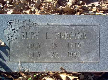 PROCTOR, RUBY L - Cross County, Arkansas | RUBY L PROCTOR - Arkansas Gravestone Photos