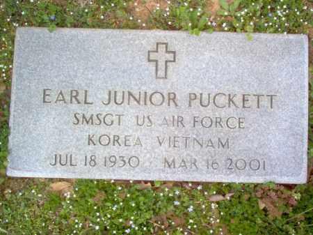 PUCKETT (VETERAN 2 WARS), EARL JUNIOR - Cross County, Arkansas | EARL JUNIOR PUCKETT (VETERAN 2 WARS) - Arkansas Gravestone Photos