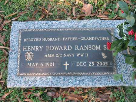 RANSOM, SR (VETERAN WWII), HENRY EDWARD - Cross County, Arkansas | HENRY EDWARD RANSOM, SR (VETERAN WWII) - Arkansas Gravestone Photos
