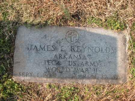 REYNOLDS (VETERAN WWII), JAMES E - Cross County, Arkansas   JAMES E REYNOLDS (VETERAN WWII) - Arkansas Gravestone Photos