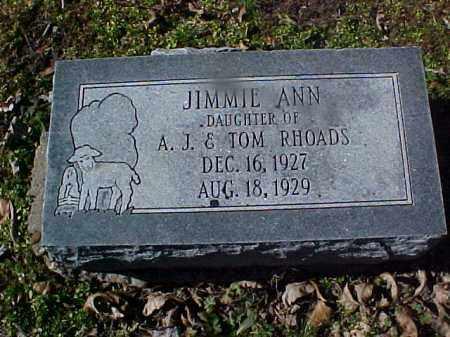 RHOADS, JIMMIE ANN - Cross County, Arkansas | JIMMIE ANN RHOADS - Arkansas Gravestone Photos