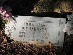 RICHARDSON, EMMA JEAN - Cross County, Arkansas | EMMA JEAN RICHARDSON - Arkansas Gravestone Photos