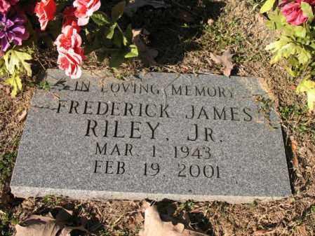RILEY, JR., FREDERICK JAMES - Cross County, Arkansas | FREDERICK JAMES RILEY, JR. - Arkansas Gravestone Photos