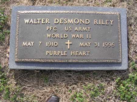 RILEY, WALTER DESMOND - Cross County, Arkansas | WALTER DESMOND RILEY - Arkansas Gravestone Photos