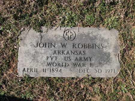 ROBBINS (VETERAN WWI), JOHN W - Cross County, Arkansas   JOHN W ROBBINS (VETERAN WWI) - Arkansas Gravestone Photos