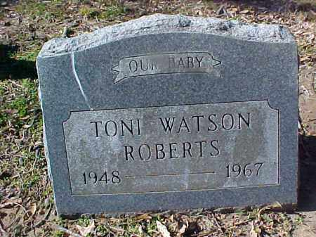 ROBERTS, TONI WATSON - Cross County, Arkansas | TONI WATSON ROBERTS - Arkansas Gravestone Photos