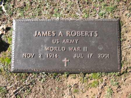 ROBERTS (VETERAN WWII), JAMES A - Cross County, Arkansas | JAMES A ROBERTS (VETERAN WWII) - Arkansas Gravestone Photos