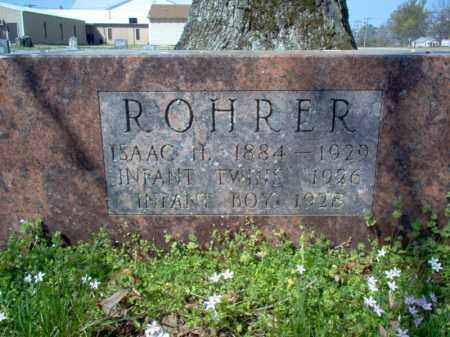ROHRER, INFANT BOY - Cross County, Arkansas | INFANT BOY ROHRER - Arkansas Gravestone Photos