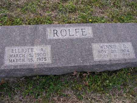 ROLFE, WINNIE D - Cross County, Arkansas | WINNIE D ROLFE - Arkansas Gravestone Photos