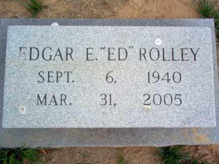 """ROLLEY, EDGAR E """"ED"""" - Cross County, Arkansas   EDGAR E """"ED"""" ROLLEY - Arkansas Gravestone Photos"""