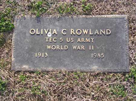 ROWLAND  (VETERAN WWII), OLIVIA C - Cross County, Arkansas | OLIVIA C ROWLAND  (VETERAN WWII) - Arkansas Gravestone Photos