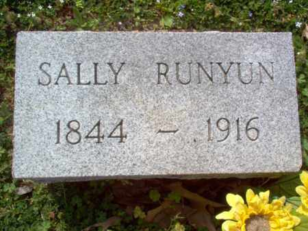 RUNYUN, SALLY - Cross County, Arkansas   SALLY RUNYUN - Arkansas Gravestone Photos