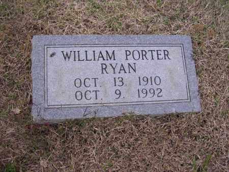RYAN, WILLIAM PORTER - Cross County, Arkansas | WILLIAM PORTER RYAN - Arkansas Gravestone Photos