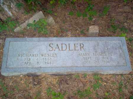 SADLER, RICHARD WESLEY - Cross County, Arkansas | RICHARD WESLEY SADLER - Arkansas Gravestone Photos