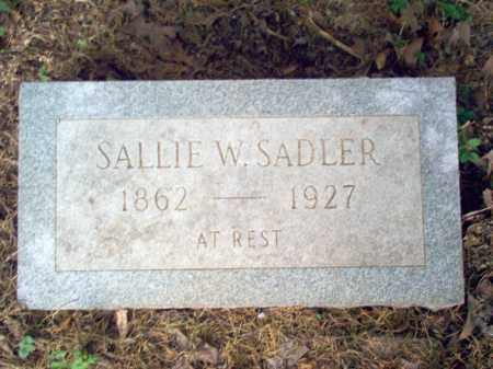 SADLER, SALLIE W - Cross County, Arkansas | SALLIE W SADLER - Arkansas Gravestone Photos