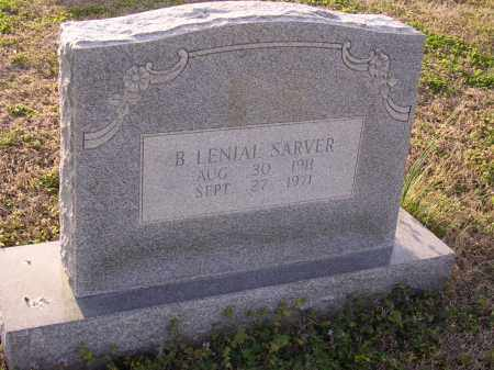 SARVER, B LENIAL - Cross County, Arkansas   B LENIAL SARVER - Arkansas Gravestone Photos
