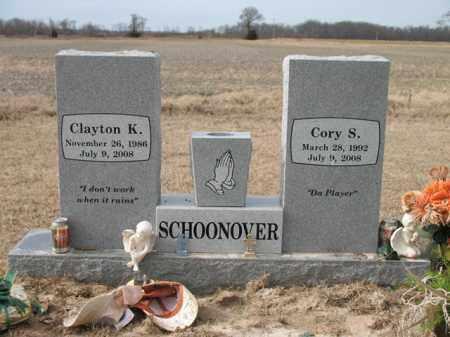 SCHOONOVER, CORY S - Cross County, Arkansas | CORY S SCHOONOVER - Arkansas Gravestone Photos