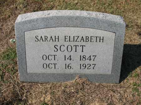 SCOTT, SARAH ELIZABETH - Cross County, Arkansas   SARAH ELIZABETH SCOTT - Arkansas Gravestone Photos