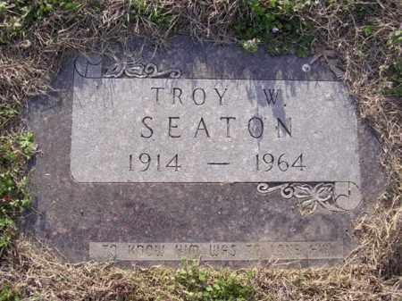 SEATON, TROY W (2) - Cross County, Arkansas   TROY W (2) SEATON - Arkansas Gravestone Photos