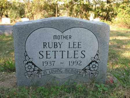 SETTLES, RUBY LEE - Cross County, Arkansas | RUBY LEE SETTLES - Arkansas Gravestone Photos