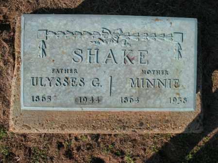 SHAKE, MINNIE - Cross County, Arkansas   MINNIE SHAKE - Arkansas Gravestone Photos