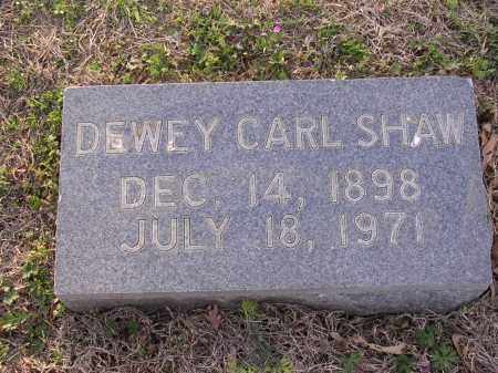 SHAW, DEWEY CARL - Cross County, Arkansas | DEWEY CARL SHAW - Arkansas Gravestone Photos