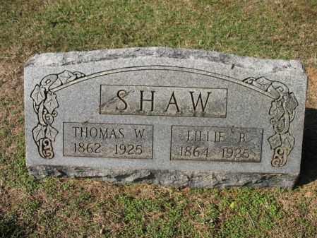 SHAW, THOMAS W - Cross County, Arkansas | THOMAS W SHAW - Arkansas Gravestone Photos