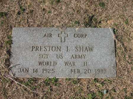 SHAW (VETERAN WWII), PRESTON LEON - Cross County, Arkansas | PRESTON LEON SHAW (VETERAN WWII) - Arkansas Gravestone Photos