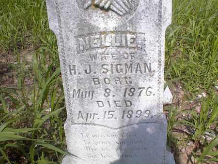 SIGMAN, NELLIE - Cross County, Arkansas | NELLIE SIGMAN - Arkansas Gravestone Photos