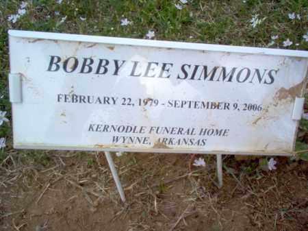 SIMMONS, BOBBY LEE - Cross County, Arkansas | BOBBY LEE SIMMONS - Arkansas Gravestone Photos