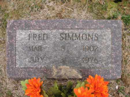 SIMMONS, FRED - Cross County, Arkansas | FRED SIMMONS - Arkansas Gravestone Photos