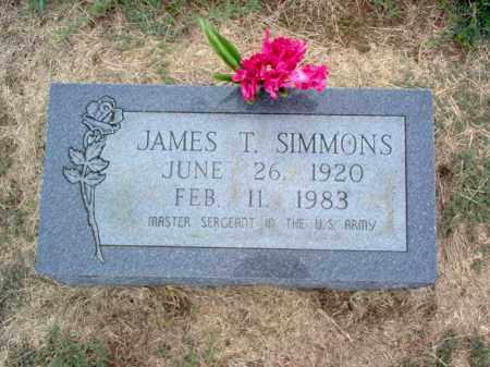 SIMMONS, JAMES T - Cross County, Arkansas   JAMES T SIMMONS - Arkansas Gravestone Photos