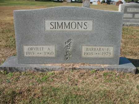 SIMMONS, ORVILLE A - Cross County, Arkansas | ORVILLE A SIMMONS - Arkansas Gravestone Photos