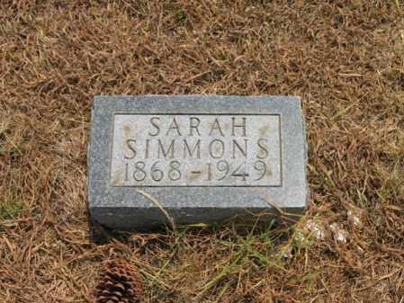 SIMMONS, SARAH - Cross County, Arkansas | SARAH SIMMONS - Arkansas Gravestone Photos