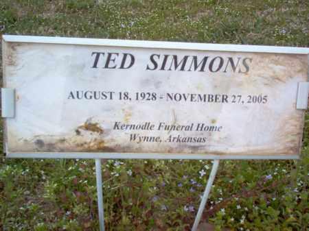 SIMMONS, TED - Cross County, Arkansas | TED SIMMONS - Arkansas Gravestone Photos