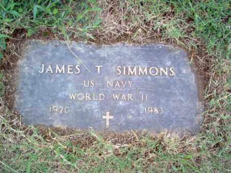 SIMMONS (VETERAN WWII), JAMES T - Cross County, Arkansas | JAMES T SIMMONS (VETERAN WWII) - Arkansas Gravestone Photos