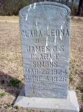 SIMONS, CLARA LEONA - Cross County, Arkansas | CLARA LEONA SIMONS - Arkansas Gravestone Photos