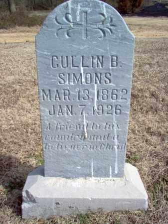 SIMONS, CULLIN B - Cross County, Arkansas | CULLIN B SIMONS - Arkansas Gravestone Photos
