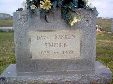 SIMPSON, DAVE FRANKLIN - Cross County, Arkansas   DAVE FRANKLIN SIMPSON - Arkansas Gravestone Photos