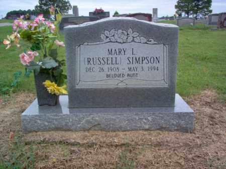 SIMPSON, MARY L - Cross County, Arkansas | MARY L SIMPSON - Arkansas Gravestone Photos