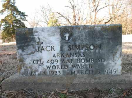SIMPSON (VETERAN WWII), JACK F - Cross County, Arkansas   JACK F SIMPSON (VETERAN WWII) - Arkansas Gravestone Photos