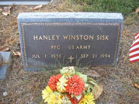 SISK (VETERAN), HANLEY WINSTON - Cross County, Arkansas | HANLEY WINSTON SISK (VETERAN) - Arkansas Gravestone Photos