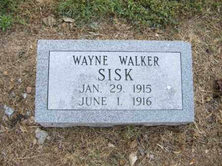 SISK, WAYNE WALKER - Cross County, Arkansas | WAYNE WALKER SISK - Arkansas Gravestone Photos