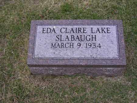SLABAUGH, EDA CLAIRE - Cross County, Arkansas | EDA CLAIRE SLABAUGH - Arkansas Gravestone Photos